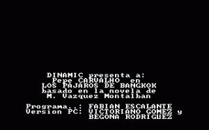Los Pájaros de Bangkok per PC MS-DOS