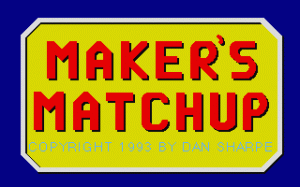 Maker's Matchup per PC MS-DOS