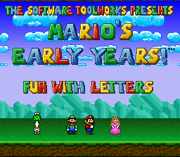 Mario's Early Years: Fun with Letters per PC MS-DOS