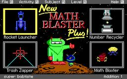 Math Blaster Plus! per PC MS-DOS