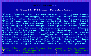 Maze Runner per PC MS-DOS
