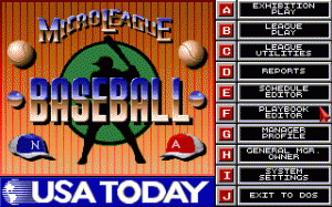 MicroLeague Baseball IV per PC MS-DOS