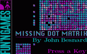 Missing Dots Matrix per PC MS-DOS