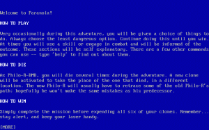 Paranoia per PC MS-DOS