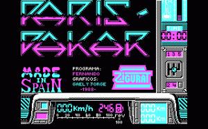 Paris-Dakar per PC MS-DOS
