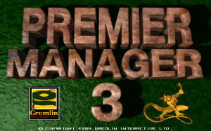 Premier Manager 3 per PC MS-DOS