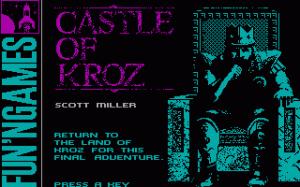 Return to Kroz per PC MS-DOS