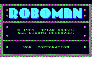 Roboman per PC MS-DOS