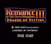 Romance of the Three Kingdoms III: Dragon of Destiny per PC MS-DOS