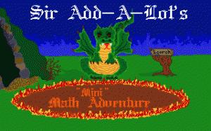 """Sir AddaLot's """"Mini"""" Math Adventure per PC MS-DOS"""
