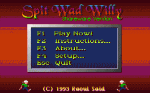 Spit Wad Willy per PC MS-DOS