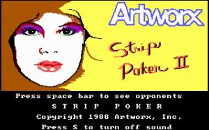 Strip Poker II per PC MS-DOS