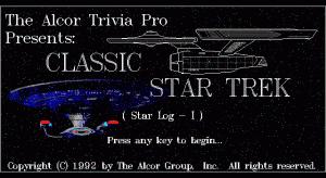 The Alcor Trivia Pro Classic Star Trek (Star-Log I) per PC MS-DOS