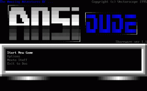 The Amazing Adventures of ANSI Dude per PC MS-DOS