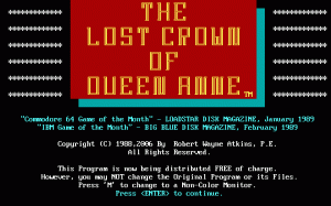 The Lost Crown of Queen Anne per PC MS-DOS