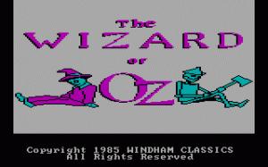 The Wizard of Oz per PC MS-DOS