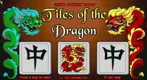 Tiles of the Dragon per PC MS-DOS