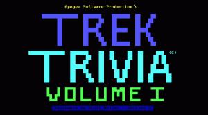 Trek Trivia per PC MS-DOS