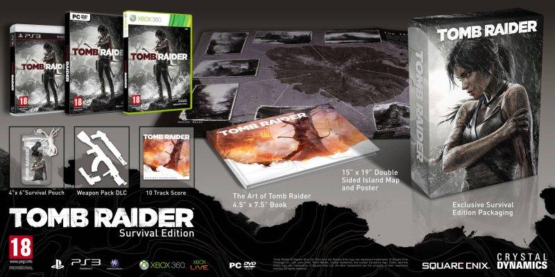 Tomb Raider - Immagini della Survival e Collector's Edition