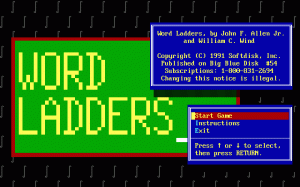 Word Ladders per PC MS-DOS