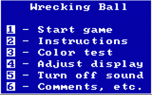 Wrecking Ball per PC MS-DOS