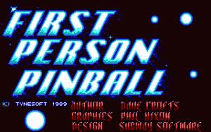 1st Person Pinball per PC MS-DOS