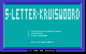 5-Letter-Kruiswoord per PC MS-DOS