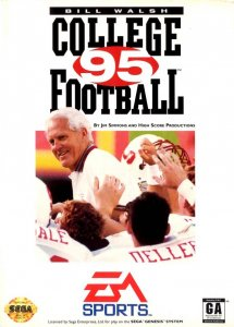 Bill Walsh College Football 95 per Sega Mega Drive
