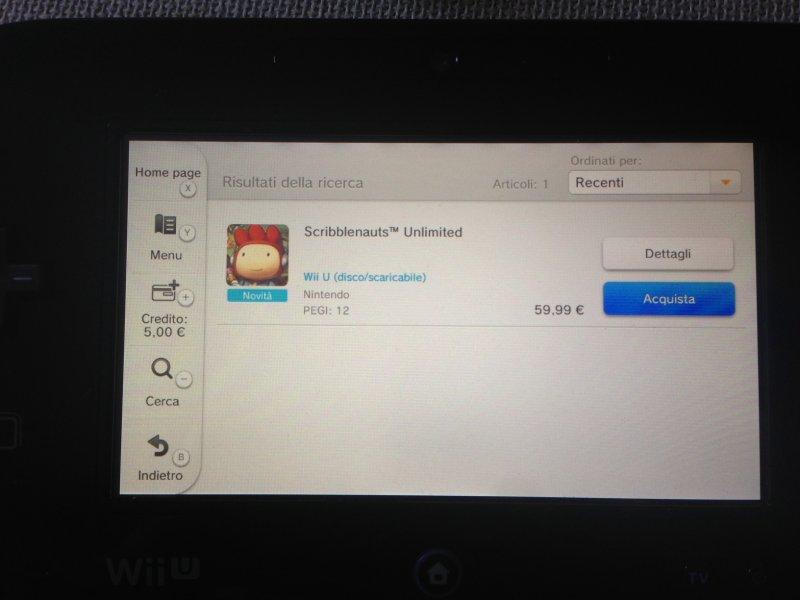 Scribblenauts Unlimited appare nell'eShop di Wii U, nonostante l'annunciato rinvio