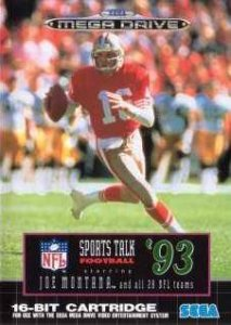 NFL Sports Talk Football '93 Starring Joe Montana per Sega Mega Drive