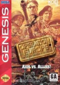 Operation Europe: Path to Victory 1939-45 per Sega Mega Drive