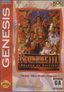 Romance of the Three Kingdoms III: Dragon of Destiny per Sega Mega Drive