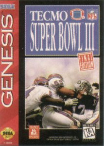 Tecmo Super Bowl III: Final Edition per Sega Mega Drive