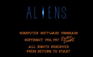 Aliens: The Computer Game per Sinclair ZX Spectrum