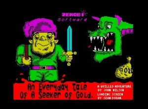 An Everyday Tale of a Seeker of Gold per Sinclair ZX Spectrum