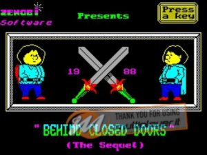 Behind Closed Doors 2: The Sequel per Sinclair ZX Spectrum