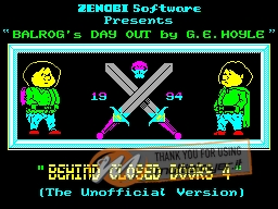 Behind Closed Doors 4: Balrog's Day Out per Sinclair ZX Spectrum