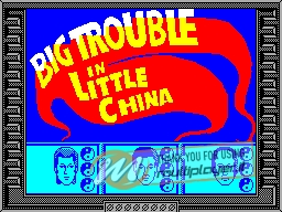 Big Trouble in Little China per Sinclair ZX Spectrum