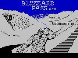 Blizzard Pass per Sinclair ZX Spectrum
