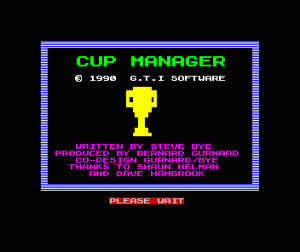 Cup Manager per Sinclair ZX Spectrum