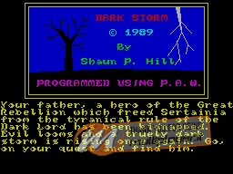 Dark Storm per Sinclair ZX Spectrum