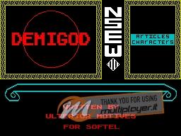 Demigod per Sinclair ZX Spectrum