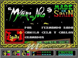 El Misterio del Nilo per Sinclair ZX Spectrum