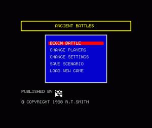 Encyclopedia of War: Ancient Battles per Sinclair ZX Spectrum