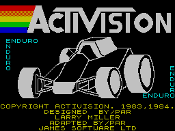 Enduro per Sinclair ZX Spectrum