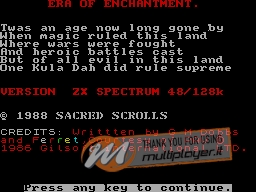 Era of Enchantment per Sinclair ZX Spectrum