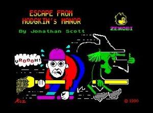 Escape from Hodgkin's Manor per Sinclair ZX Spectrum