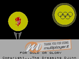 For Gold or Glory per Sinclair ZX Spectrum