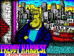 Freddy Hardest in South Manhattan per Sinclair ZX Spectrum