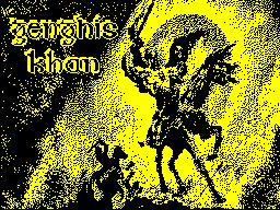 Genghis Khan per Sinclair ZX Spectrum